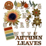 E-Kit Elements (Digital Scrapbooking) - Autumn Leaves 1