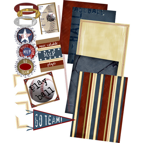 E-Kit Elements (Digital Scrapbooking) - Baseball Dreams