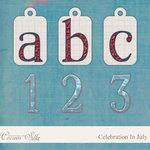 Digital Element Kit - Celebration In July - Alphabet