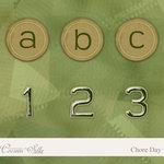 Digital Element Pack - Chore Day - Alphabet