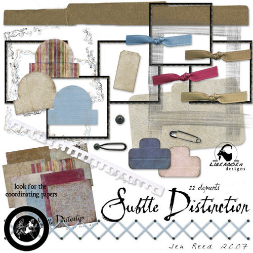 Digital Element Kit - Subtle Distinction