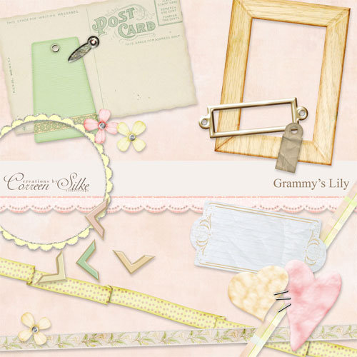 Digital Element Kit - Grammy's Lily
