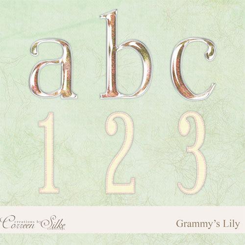 Digital Element Kit - Grammy's Lily - Alphabet