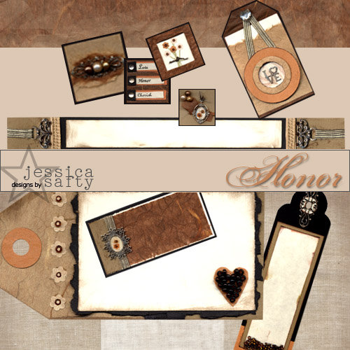 E-Kit Elements (Digital Scrapbooking) - Honor 1