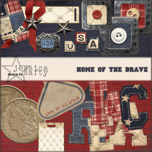 E-Kit Elements (Digital Scrapbooking) - Home of the Brave 2