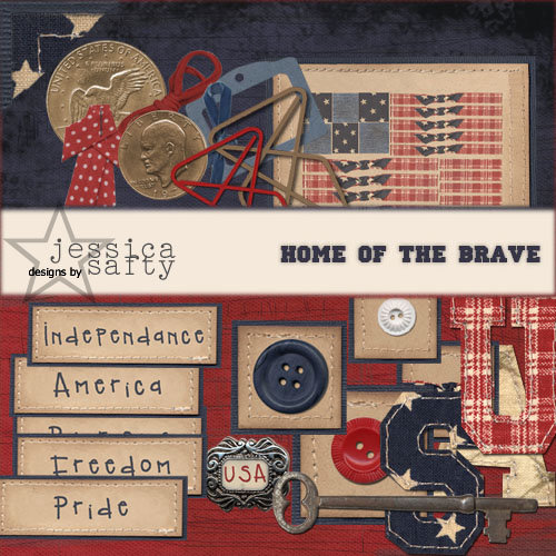 E-Kit Elements (Digital Scrapbooking) - Home of the Brave 5
