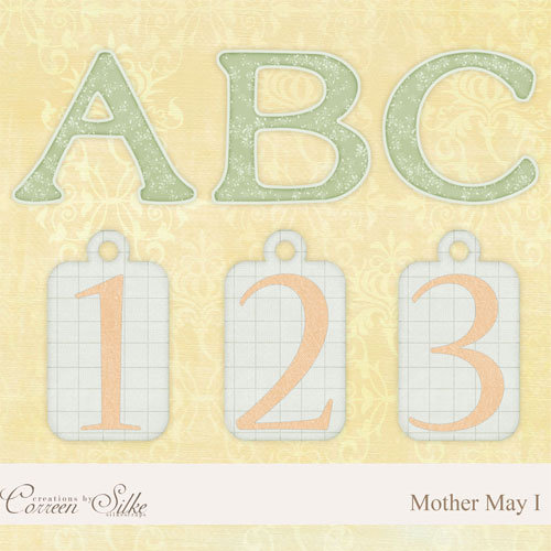 Digital Element Kit - Mother May I - Alphabet
