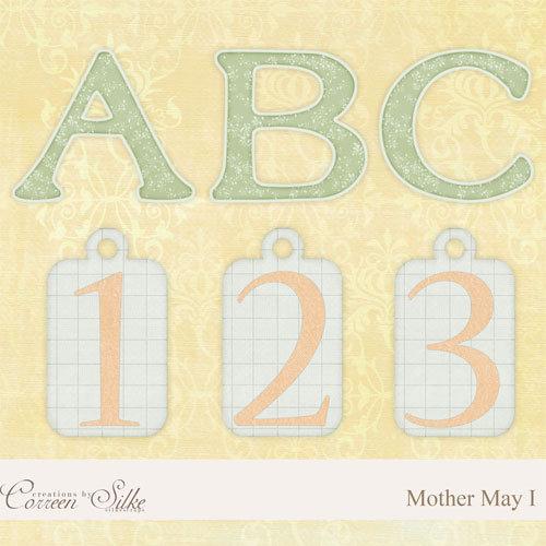 Digital Element Kit - Mother May I - Alphabet