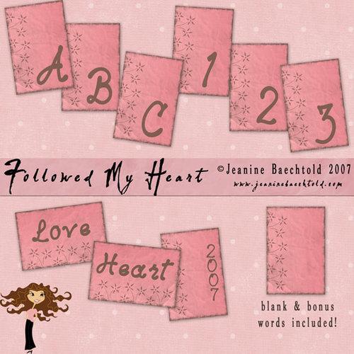 Digital Element Pack - Followed My Heart - Alphabet