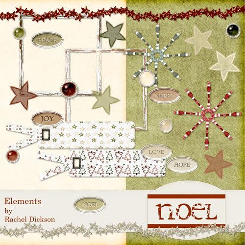 Digital Element Kit - Noel