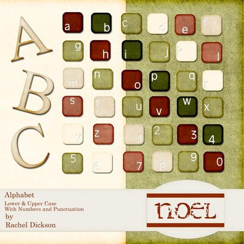 Digital Element Kit - Noel - Alphabet