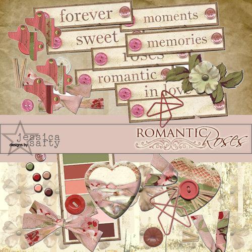 E-Kit Elements (Digital Scrapbooking) - Romantic Roses 2