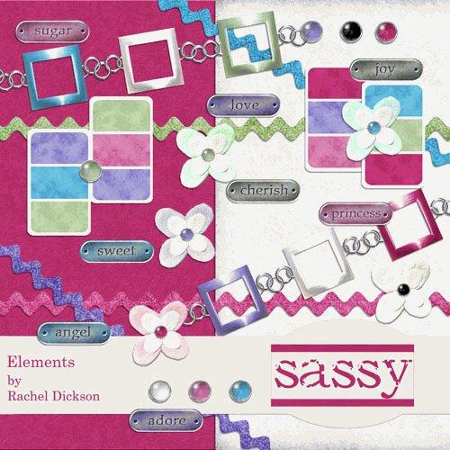 Digital Element Kit - Sassy