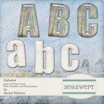 Digital Element Kit - Sea Swept - Alphabet