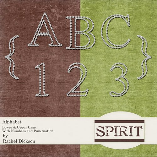 Digital Element Pack - Spirit - Alphabet