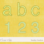 Digital Element Pack - Sunday Gardens - Alphabet