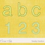 Digital Element Pack - Sunday Gardens - Alphabet