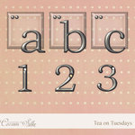 Digital Element Kit -  Tea on Tuesdays - Alphabet
