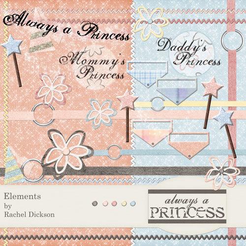 Digital Element Kit - Always A Princess