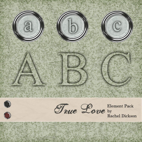 Digital Element Kit - True Love - Alphabet