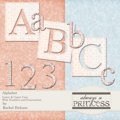 Digital Element Kit - Always A Princess - Alphabet