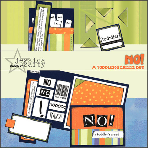 E-Kit Elements (Digital Scrapbooking) - No! A Toddlers Creed: Boy 1