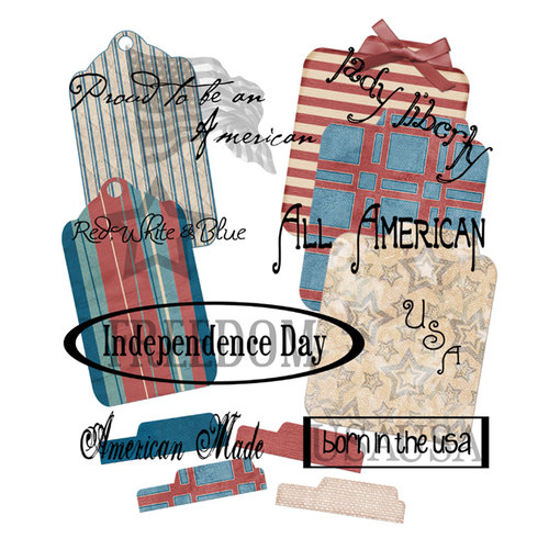 E-Kit Elements (Digital Scrapbooking) - American Made 1