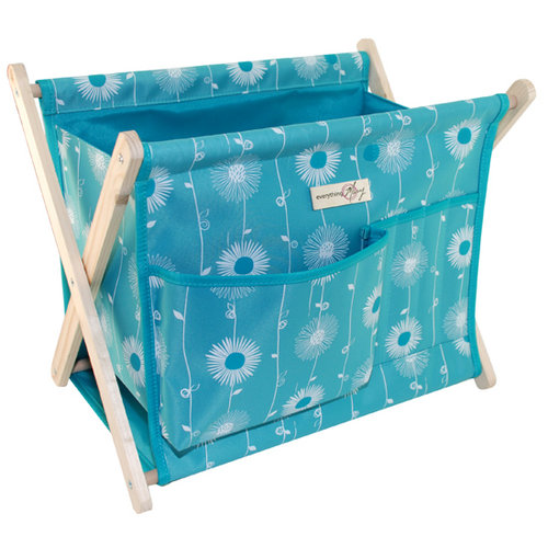 Everything Mary - Fold Up Yarn Caddy - Blue
