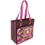 Everything Mary - Scrapbook Paper and Accessory Tote - Brown and Pink Floral