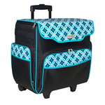 Everything Mary - Rolling Papercraft Tote - Black and Teal