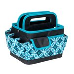 Everything Mary - Desktop Organizer - Black and Teal