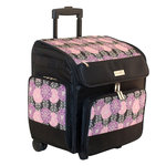 Everything Mary - Rolling Scrapbook Tote - Purple and Black