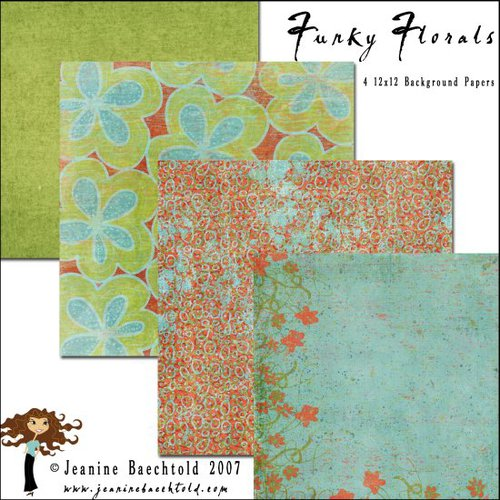 E-Paper Kit - Funky Florals 1