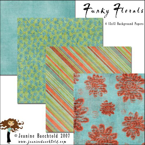 E-Paper Kit - Funky Florals 2