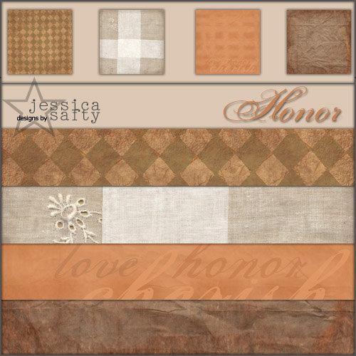 E-Kit Papers (Digital Scrapbooking) - Honor