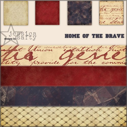 E-Kit Papers (Digital Scrapbooking) - Home of the Brave 2