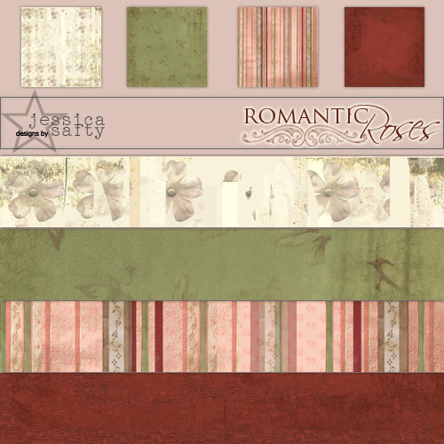 E-Kit Papers (Digital Scrapbooking) - Romantic Roses 1