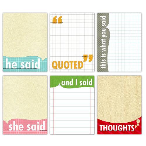 Elle's Studio - Quotables - 3 x 4 Tags - Note