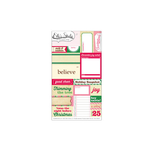 Elle's Studio - Be Merry Collection - Christmas - Paper Tags - Cutouts