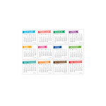 Elle's Studio - 3 x 3 Tags - 2013 Chic Calendars - Brights