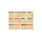 Elle's Studio - 3 x 3 Tags - 2013 Chic Calendars - Vintage