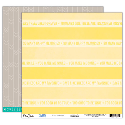 Elle's Studio - Cameron Collection - 12 x 12 Double Sided Paper - Happy Moments