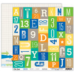 Elle's Studio - Cameron Collection - 12 x 12 Double Sided Paper - Letters and Numbers