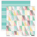 Elle's Studio - Cienna Collection - 12 x 12 Double Sided Paper - Patchwork