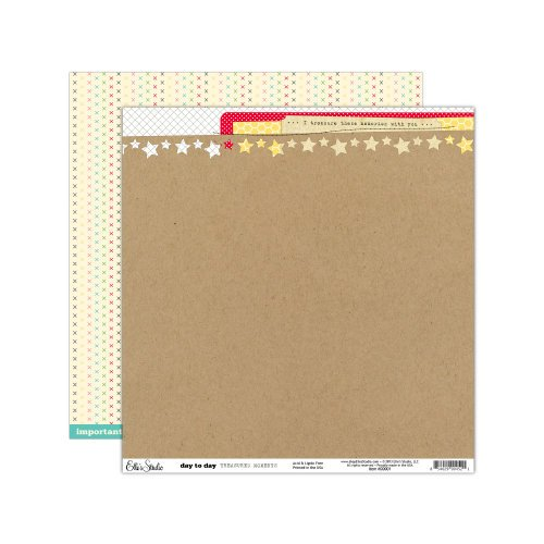 Elle's Studio - Day To Day Collection - 12 x 12 Double Sided Paper - Treasured Moments