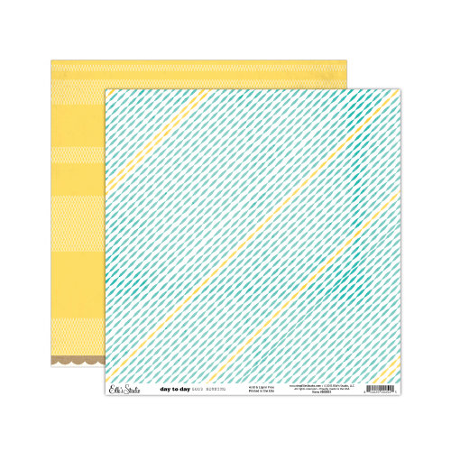 Elle's Studio - Day To Day Collection - 12 x 12 Double Sided Paper - Good Morning