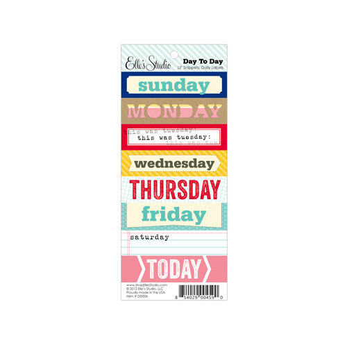Elle's Studio - Day To Day Collection - Lil' Snippets - Daily Labels