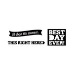 Elle's Studio - Day To Day Collection - Clear Acrylic Stamps - Right Here