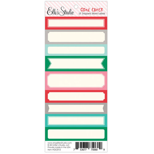 Elle's Studio - Good Cheer Collection - Christmas - Lil' Snippets - Blank Labels