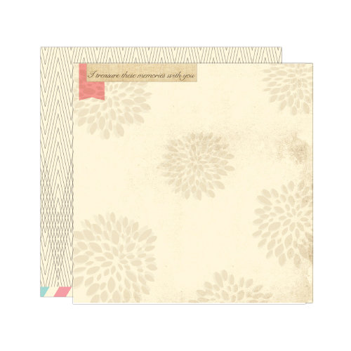 Elle's Studio - Serendipity Collection - 12 x 12 Double Sided Paper - Treasure